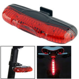 3-Mode 5-LED Bicycle Safety Mount Taillight (XJ-2212)(Red)