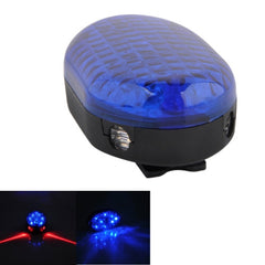 8-LED + 2 Laser Flashing 7-Modes Rhombus Warning Bicycle Tail Lamp Rear Light(Blue)