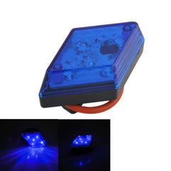 5-LED 7-Modes Rhombus Warning Bicycle Tail Lamp Rear Light(Blue)