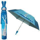 Fashion Folding Bottle Umbrella Brolly Parasol with Rabbit Shaped Case(Blue)