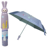 Fashion Folding Bottle Umbrella Brolly Parasol with Rabbit Shaped Case(Purple)