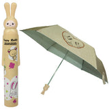 Fashion Folding Bottle Umbrella Brolly Parasol with Rabbit Shaped Case(Yellow)