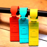 Silicone Luggage Tag / Travel Trolley Luggage Tag (Random Color Delivery)