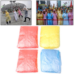 Disposable Pocket Emergency Raincoat with String 4pcs in one packaging the price is for 4pcs (Random Color Delivery)