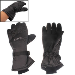 Soft Warm Protection Full-fingered Skiing Gloves (Black)