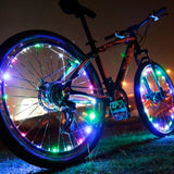 Bicycle Wheel Spoke Decorative LED Light Article Bar Strip 15 LEDs