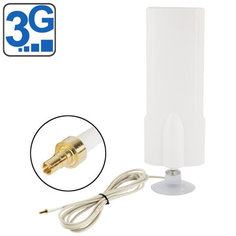 High Quality Indoor 30dBi CRC9 3G Antenna Cable Length: 1m Size: 20.7cm x 7cm x 3cm(White)