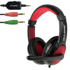 OVLENG S888 Universal Stereo Headset with Mic and Volume Control Key for Computer Cable Length: 2m(Black)