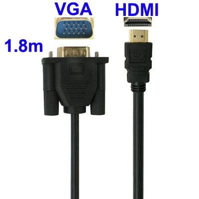 VGA to HDMI Cable, Length: 1.5m