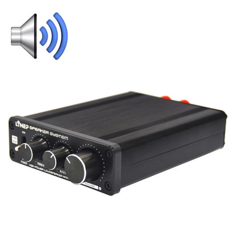 A928 Treble-bass 136W High-power Amplifier(Black)