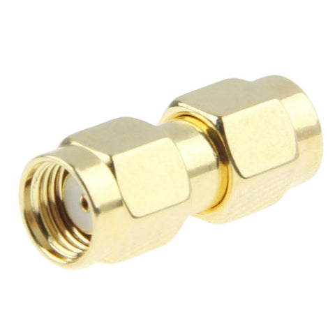 Gold Plated SMA Male to RP-SMA Male Adapter