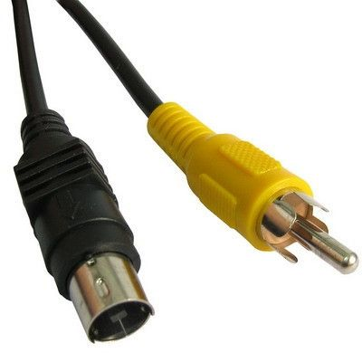 4 Pin S-VIDEO TV to RCA AV Cable Converter Adapter