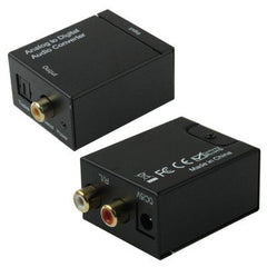 Analog RCA to Digital Optical Coaxial Toslink Audio Converter (Black)