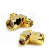 Online Buy RP-SMA Male to 2 RP-SMA Female Adapter (T Type) Gold Plated | South Africa | Zasttra.com