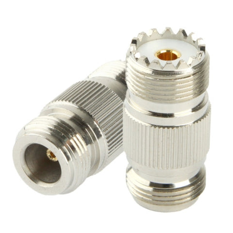 Coaxial RF N Female to UHF Female Adapter