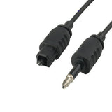 TOSLink Male to 3.5mm Male Digital Optical Audio Cable Length: 0.8m OD: 2.2mm