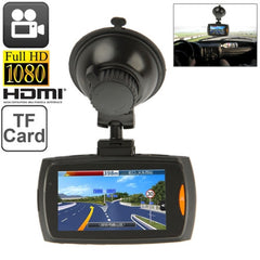 Full HD 1080P Vehicle DVR 2.7 inch Screen Display Support TF Card Support Loop Recording / Motion Detection / AV OUT / Night Vision (T838)(Black)