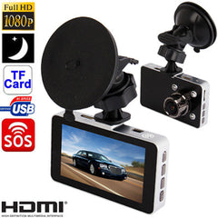G2W H.264 3.0 Mega Pixels CMOS Full HD 1080P 3.0 inch TFT LCD Screen Advanced Portable Car Camcorder Support G-sensor / Motion Detection / HDMI / IR / SOS / TF Card Viewing Angle: 170 Degree