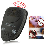 EU Plug Ultrasonic Pest Repeller Electro Magnetic (Black)