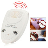 EU Plug Ultrasonic Pest Repeller Electro Magnetic (White)