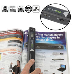 Portable Document & Image Handheld Scanner Support TF Card