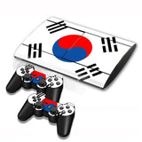 Korean Flag Pattern Decal Stickers for PS3 Game Console