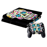 Skull Pattern Protective Skin Sticker Cover Skin Sticker for PS4 Game Console