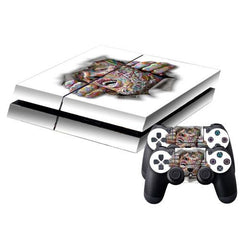3D Effect Color Face Pattern Protective Skin Sticker Cover Skin Sticker for PS4 Game Console