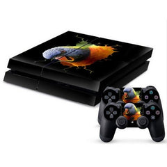 3D Bird Pattern Protective Skin Sticker Cover Skin Sticker for PS4 Game Console