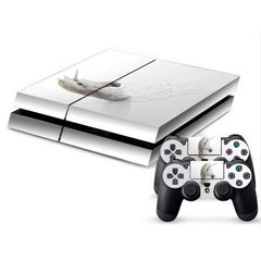 3D Horned Horse Pattern Protective Skin Sticker Cover Skin Sticker for PS4 Game Console