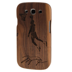 Dunk Pattern Detachable Wood Material Case for Samsung Galaxy SIII / i9300