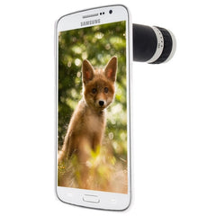 6X Zoom Lens Mobile Phone Telescope + Crystal Case for Samsung Galaxy Grand 2 / G7106