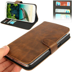 Crazy Horse Texture Leather Case with Holder & Credit Card Slots for Samsung Galaxy Mega 6.3 / i9200 (Coffee)