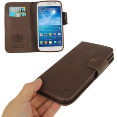 Cross Texture Leather Case with Credit Card Slots & Lanyard for Samsung Galaxy Mega 5.8 / i9150(Coffee)