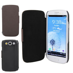 Cross Texture Leather Case and Plastic Cover Case for Samsung Galaxy SIII / i9300 (Coffee)