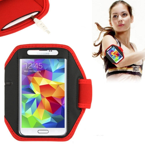 Online Buy Sports Armband Case for Samsung Galaxy S5 / G900 / S IV / i9500 / i9300 (Red) | South Africa | Zasttra.com