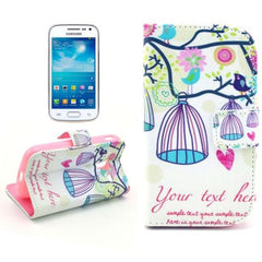 Birdcage Pattern Leather Case with Card Slots & Holder for Samsung Galaxy Ace 2 i8160