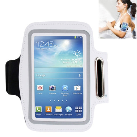 Universal PU Sports Armband Case with Earphone Hole for Samsung Galaxy S IV / i9500 / i9300 (White)
