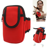 Thicken Nylon Fabric Double Layers Sports Armband Case for Samsung Galaxy S IV / i9500 / i9300 / i9190    (Red)
