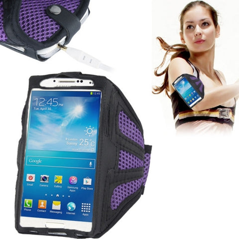 Nylon Material Sports Armband Case for iPhone 6 & 6s Samsung Galaxy S7 / S6 / S5 / S4 / S3(Purple)