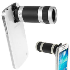 6X Zoom Lens Mobile Phone Telescope + Crystal Case for Samsung Galaxy S IV mini / i9190