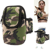 Camouflage Pattern Thicken Nylon Fabric Double Layers Sports Armband Case for Samsung Galaxy Note II / N7100 / i9220
