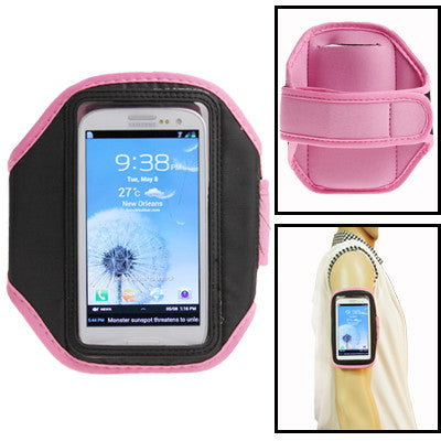 Sports Armband Case for Samsung Galaxy SIII / i9300 (Pink)