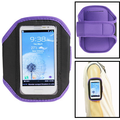 Sports Armband Case for Samsung Galaxy SIII / i9300 (Purple)