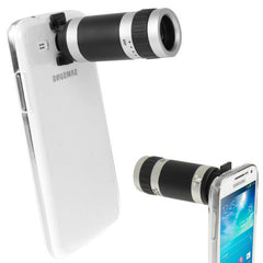 6X Zoom Lens Mobile Phone Telescope + Crystal Case for Samsung Galaxy Mega 5.8 / i9150
