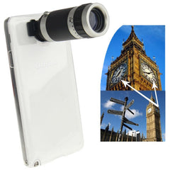 6X Zoom Lens Mobile Phone Telescope + Crystal Case for Samsung Galaxy Note III / N9000