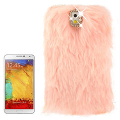 Diamond Encrusted Winter Warm Fur Plastic Case for Samsung Galaxy Note III / N9000 (Pink)