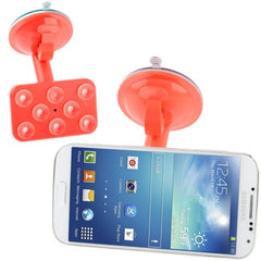 Universal Rotating Suction Cup Car Holder / Desktop Stand for Samsung Galaxy S IV / S III / i8190 / i9200 iPhone 5 & 5C & 5S (Red)