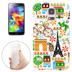 Bicycle Tower Pattern TPU Case for Samsung Galaxy S5 / G900