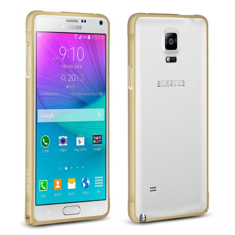 LOVE MEI Curved Metal Aluminium Bumper Frame for Samsung Galaxy Note 4 / N910(Gold)